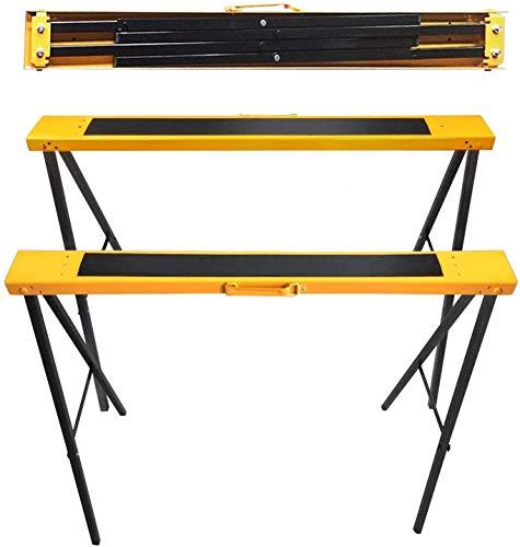 FEMOR 2 Stück Klappböcke Arbeitsböcke Klappbar Unterstellböcke bis 120kg belastbar Platzsparend Arbeitsbock Metall