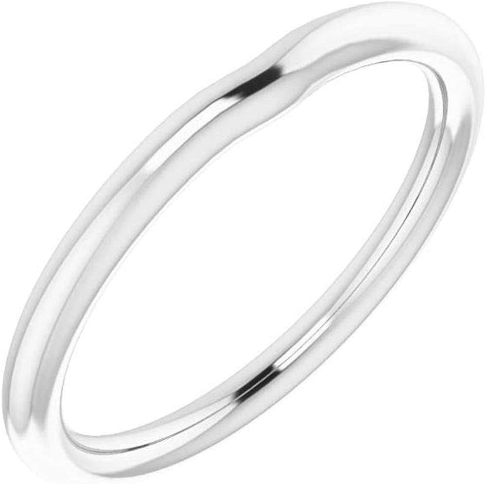 Solid 10K White Our shop OFFers the best service Gold Curved San Diego Mall Notched Band for Wedding Squar 4.5mm