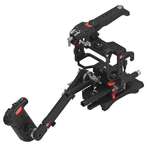 JTZ DP30 JL-JS7 Camera Cage + 15mm Rail Rod Base plate Rig + Shoulder Pad,Electric Handle Grip for SONY A9 II A7III A7RIII A7SIII A7RIV A7R4 Dslr Camera