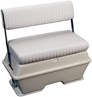 Moeller Deluxe Permanent Mount Swing Back Cooler or Livewell Boat Seat (50-Quart, 30