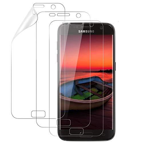 DOSMUNG Schutzfolie für Samsung S7, [3 Pack] Displayschutzfolie für Samsung Galaxy S7, Ultra-klar, Anti-Kratzen, Anti-Öl, Hülle Freundllich, Weich TPU Folie für Galaxy S7 (Nicht Panzerglas)