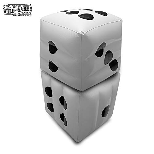 Big Giant Jumbo Inflatable Dice Set for Dice Games Family Games Casino Games and Decorations Pool Party Indoor Outdoor Game Night