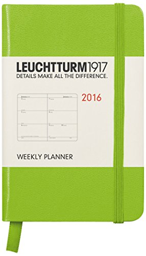 Leuchtturm1917 347280 Wochenkalender Mini (A7, 2016, Englisch) Limone