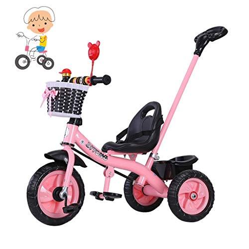 WENJIE Balance bebé Scooter de Tres Ruedas de Bicicletas Gratis Inflable Carrito Pedal de 1-6 años Triciclo Hijos de los Hijos Triciclo Viejo Chicos instalación rápida y niñas Juguetes (Color : Pink)