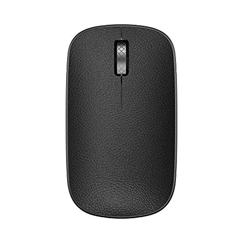 AZIO Retro Classic Bluetooth Mouse (Gunmetal) - Genuine Leather Topped with Pixart Precision Tracker