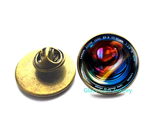 Anstecknadel für Kamera-Objektive, Fotografie-Schmuck, Geschenk für Fotografen, Kamera-Objektiv-Brosche, Herren-Brosche, keine echte Kamera, Q0124