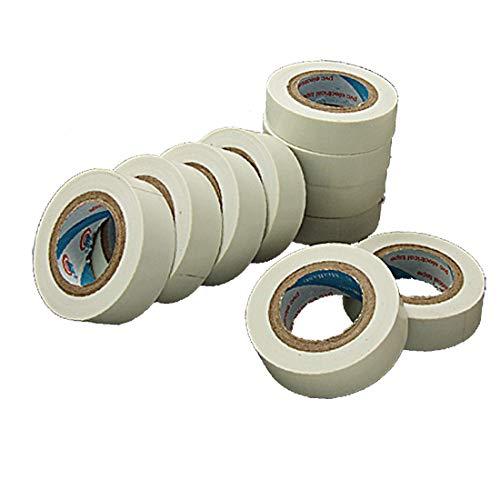 X-DREE Weißes selbstklebendes PVC Hochleistung - Kunststoff - Isolierband wesentlich 17mm Breite 10 gut gemacht Rollen(89f-6d-57-23c)