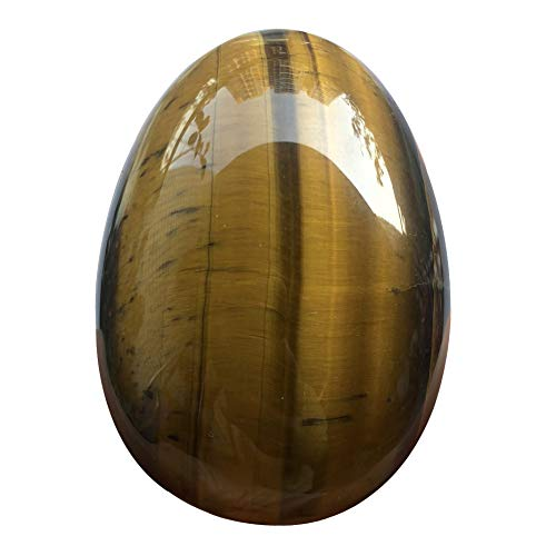 favoramulet Polished Stone Egg for Easter Day, Palm/Pocket/Worry Enegry Healing Crystal Display Sphere Figurine Fengshui, Tiger