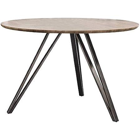 L'Héritier Du Temps Table à Manger Hinsk Ronde Table de Repas Hinsk Design Indus 73x120x120cm