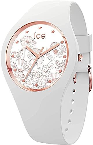 Ice-Watch - Ice Flower Spring White - Montre Blanche pour Femme avec Bracelet en Silicone - 016669 (Medium)