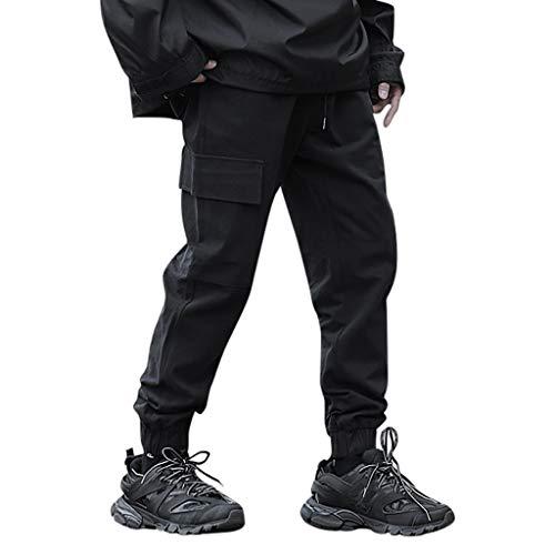 serliy😛Herren Cargo Hose Lange Outdoor Military Freizeithose mit Seitentaschen,Cargohose, sportliche Passform, mit komfortablem Stretch