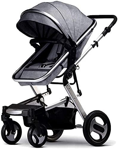 YQLWX Cochecito de bebé Carrera Infantil Silla de Viaje Paraguas livianas con Cochecito con Canasta de bebé Anti-Shock Springs, Prom Ajustable Vista ALTERIOR (Color (Color : A)