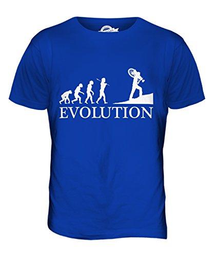 Candymix Querfeldeinrennen Querfeldein Evolution des Menschen Herren T Shirt, Größe Small, Farbe Königsblau