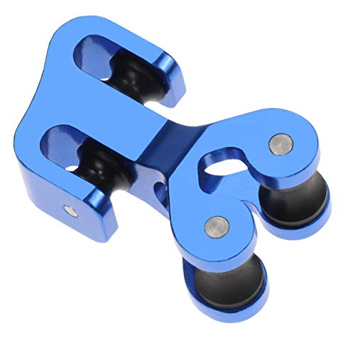 JY-Sports Archery Cable Slide Aluminium Alloy String Separator Protector for Compound Bow (Blue)