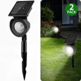 Solar Landscape Spotlights, Brightown Waterproof Adjustable Outdoor Led Spot...