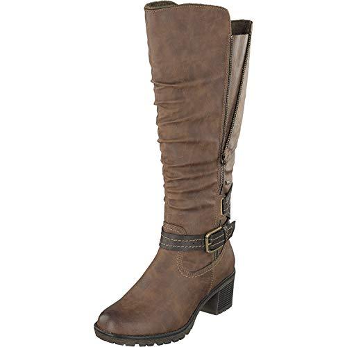 Relife Damen Schuhe Stiefel 8717-18808B-09R in 2 Farben (37 EU, Cuoio)