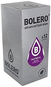Bolero Bebida Instantánea Sabor Bayas de Acai - Paquete de 12 x 36 gr - Total: 432 gr