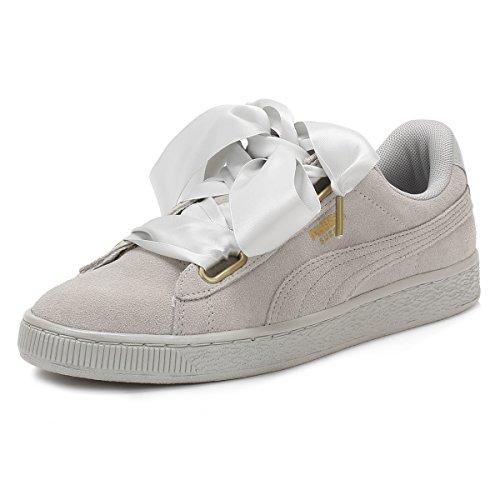 Puma scarpe da ginnastica Heart Safari in pelle scamosciata da donna, Grigio (Grey Violet Satin), 41 EU