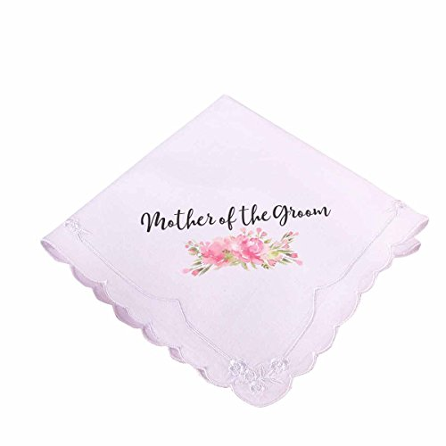 Lillian Rose Pink Mother of The Groom Hankie, 12', White
