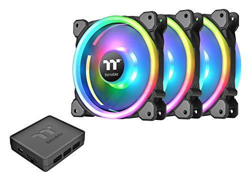 Thermaltake Riing Trio 12 RGB TT Premium Edition 120mm Software Enabled 30 Addressable LED 9 Blades Case/Radiator Fan - 3 Pack - CL-F072-PL12SW-A