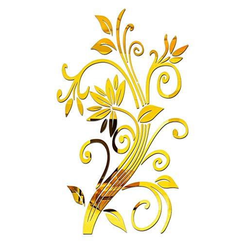 Adhesivo decorativo 3D con forma de flor, acrílico, moderno, para decoración del salón, removible, 410 W