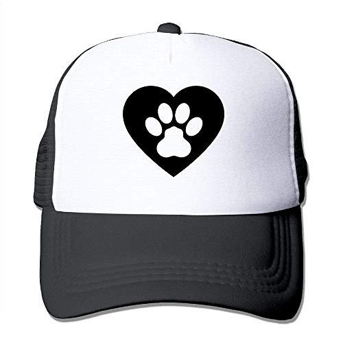 Voxpkrs Dog Paw Heart Clipart Unisex Adjustable Hats Trucker Cap | Baseball Caps Mesh Back U8I001709