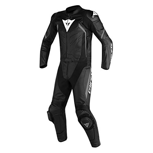 DAINESE ASSEN 2 PIECES SUIT MOTORBIKE/MOTORCYCLE BLACK (S = EURO 48 / XS = USA 38)
