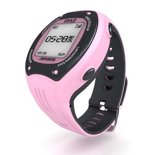 Pyle Hardshell-Jacke Incus II Jacket Reloj Deportivo con GPS, Mujer, Rosa, XXXL