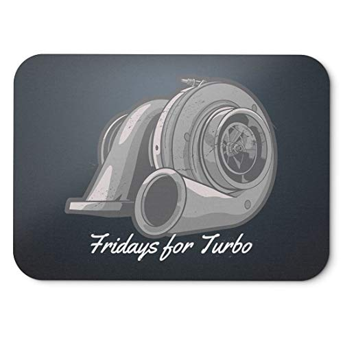 BLAK TEE Fridays for Turbo Mouse Pad 18 x 22 cm in 3 Colours Nero