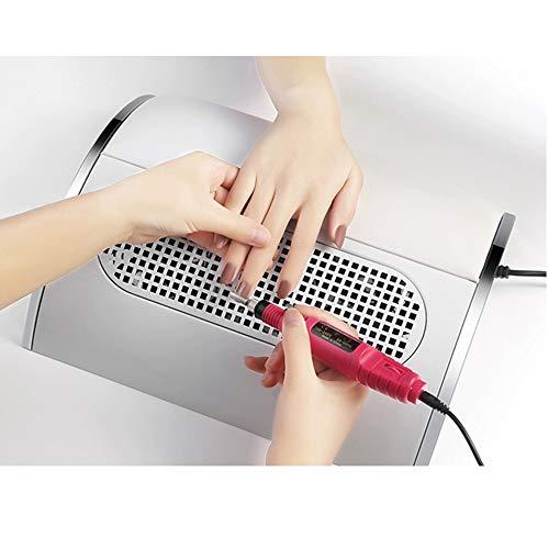 Turefans Nagelset, 1 * Nagelstaubsauger + 1 * Mini-Nagelmaschine, geeignet für Schönheitssalons, zu Hause