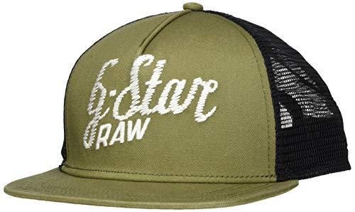 G-STAR RAW Herren Cart Trucker Baseball Cap, Grün (Asfalt 995), One Size (Herstellergröße: PC)