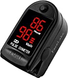 Facelake ® FL400 Pulse Oximeter with Carrying Case, Batteries, Neck/Wrist Cord - Black