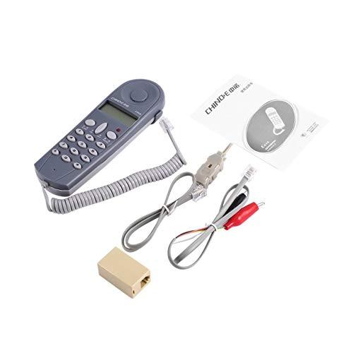 Ballylelly Telefon Telefon Butt Test Tester Lineman Tool Netzwerkkabelsatz Netzwerkkabeltester mit Steckern und Joiner C019