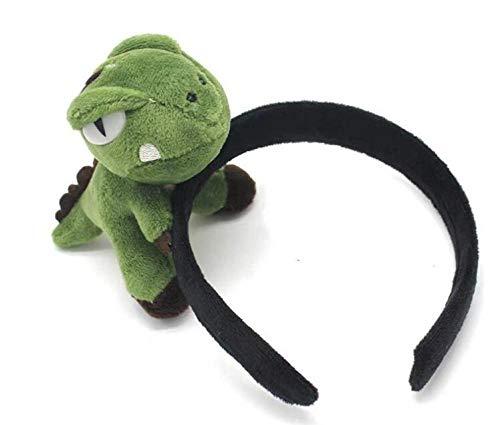 Preisvergleich Produktbild AMZYY Kinder Erwachsene Niedlich 3D Cartoon Dinosaurier Stirnband Plüschtier Samt Stoff Umwickelt Haar Reifen Cosplay Party Kostüm Foto Requisiten