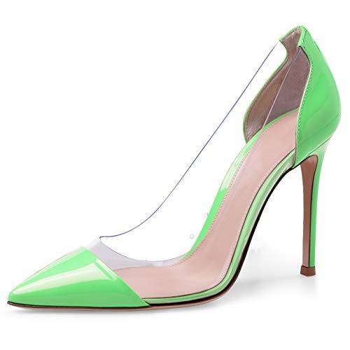 JiaBinji Bombas Transparentes para Mujeres Zapatos de tacón Alto Transparentes Zapatos de...