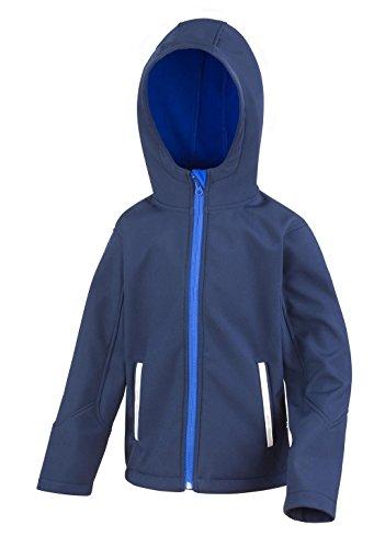 Résultat pour Enfant R224j KT Core TX Performance Veste Softshell à Capuche, Enfant, R224J, Bleu Marine/Bleu Roi, Medium/Size 7/8