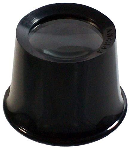 Uhrmacherlupe Schwarz Uhrmacher Okular Juwelier Lupe Vergrößerungsglas Augenlupe 6,7-Fach