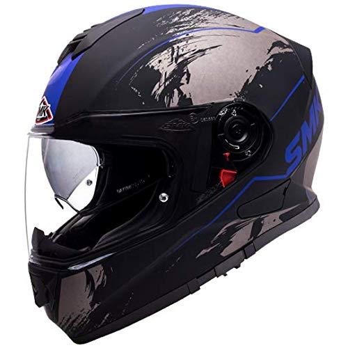 SMK Helmets - Twister - Wraith - Matt Black Grey Blue -...