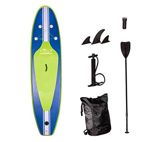 HUDORAStand-Up Paddle Board Glide SUP 320 cm, aufblasbar, blau/lime, Stand-Up Paddel Board
