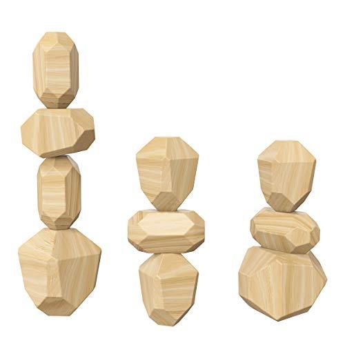 Gojiny Holz Rocker Balance Blöcke Gesetzt Kinder Holz Stein Stapelspiel Baustein Kreative Spielzeug Stressabbau Spielzeug Kinder Interaktives Spiel Spielzeug Kinder Bildung