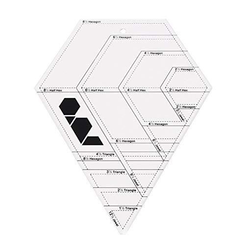 Coaste Patchwork Ruler, Transparentl Diamond Shaped Patchwork Ruled Template Tools, DIY Quilt Manual Drawing Ruler