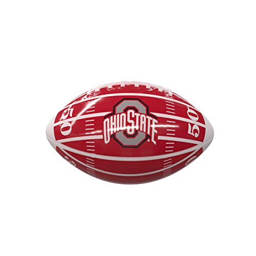 Logo Brands NCAA Ohio State Buckeyes Mini-Size Glossy Football, Team Color
