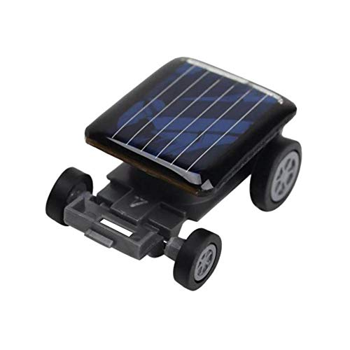 Smallest Solar Powered Mini Toy Car Vehicle Automatic Robot Racing Educational Gadget Kids Toy Gift Science Kit for Children Girls Boys