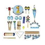 Edmend Baby-Musikinstrumente 22pcs Kleinkind-Musik-Spielzeug-Set Bildung Percussion Spielzeug-Geschenk for Kinder, Jungen, Mädchen...