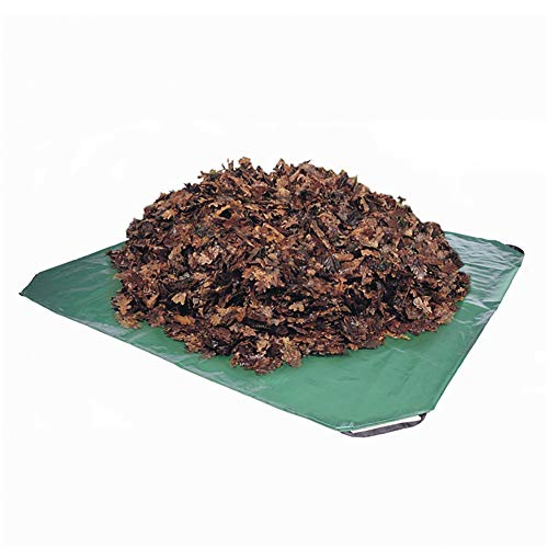 MILECN Lona para desechos de jardín con Asas, Lona Duradera Reutilizable para Cubrir artículos al Aire Libre, Limpieza para arbustos de desechos de jardín y Recortes de setos,84x84inch