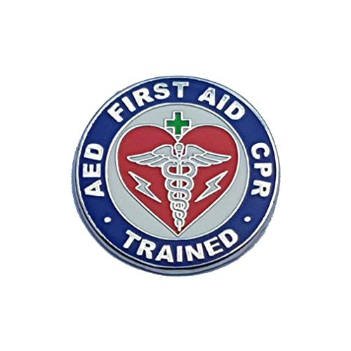 AED First Aid CPR Trained Lapel Pin Qualified Work Health and Safety 1st Aider - A 49