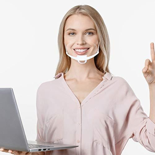100 Stück Mund Gesichtsschutz aus Kunststoff Gesichtsschild Schutzschild Schutzvisier Visier