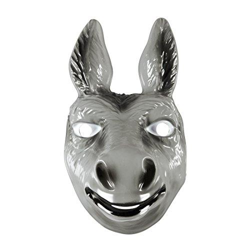 NET TOYS Careta asno Máscara mulo Gris Antifaz Burro Mascarilla Carnaval Mula Cubre Rostro carnavalera Animal Accesorio Disfraz Zoo