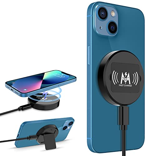 KKM Magnetic Wireless Charger, Compatible with MagSafe Charger, 15W Fast Charging Pad for iPhone 13/13 Pro/13 Pro Max/13 mini/12/12 Pro/12...