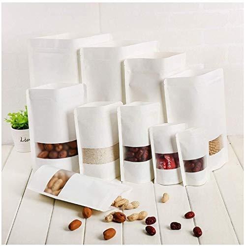 ALXLX 10 Stand Up zakjes Hersluitbare Rits voedsel opslag zakken Herbruikbare Ziplock Tassen Verpakking Tassen Warmtezegel Retail Pakket Voor Snack Thee Droge Snack Tassen